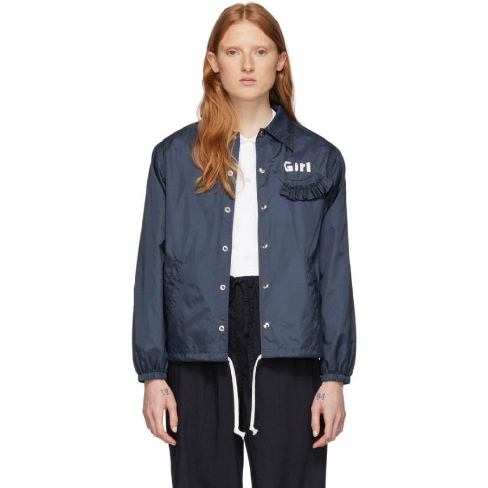 コム デ ギャルソン Comme des Garcons Girl レディース ジャケット コーチジャケット アウター【Navy Logo Coaches Jacket】Navy