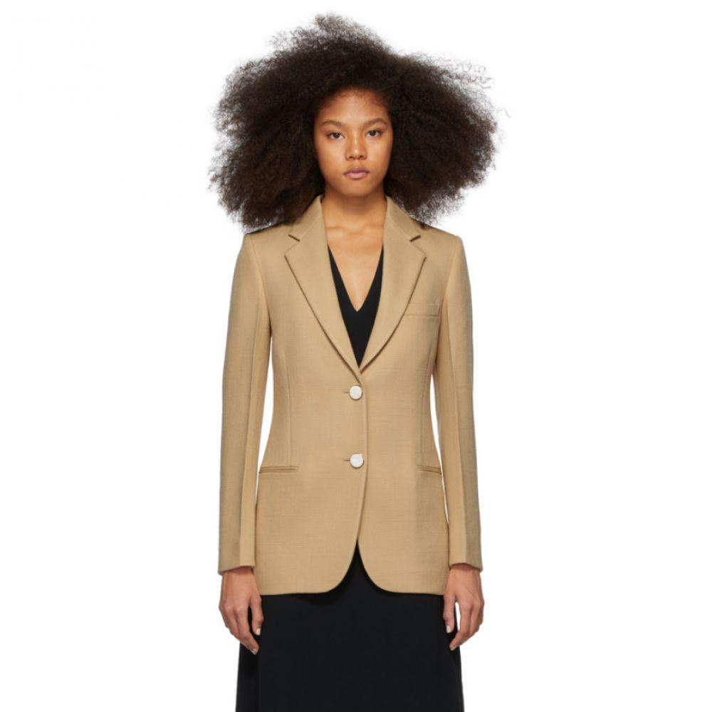 ヴィクトリア ベッカム Victoria Beckham レディース スーツ・ジャケット アウター【Beige Single-Breasted Jacket】Biscuit