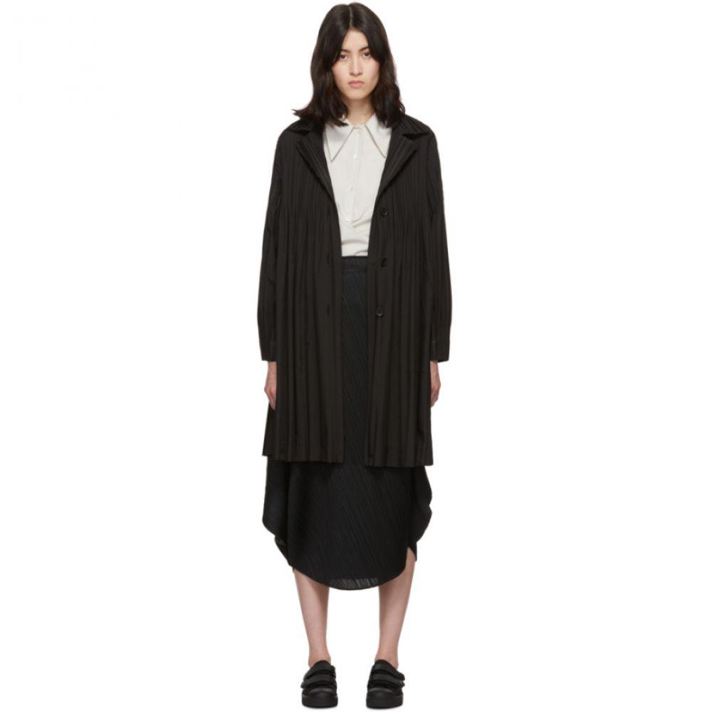 プリーツ プリーズ イッセイ ミヤケ Pleats Please Issey Miyake レディース コート アウター【Black Janty Coat】Black