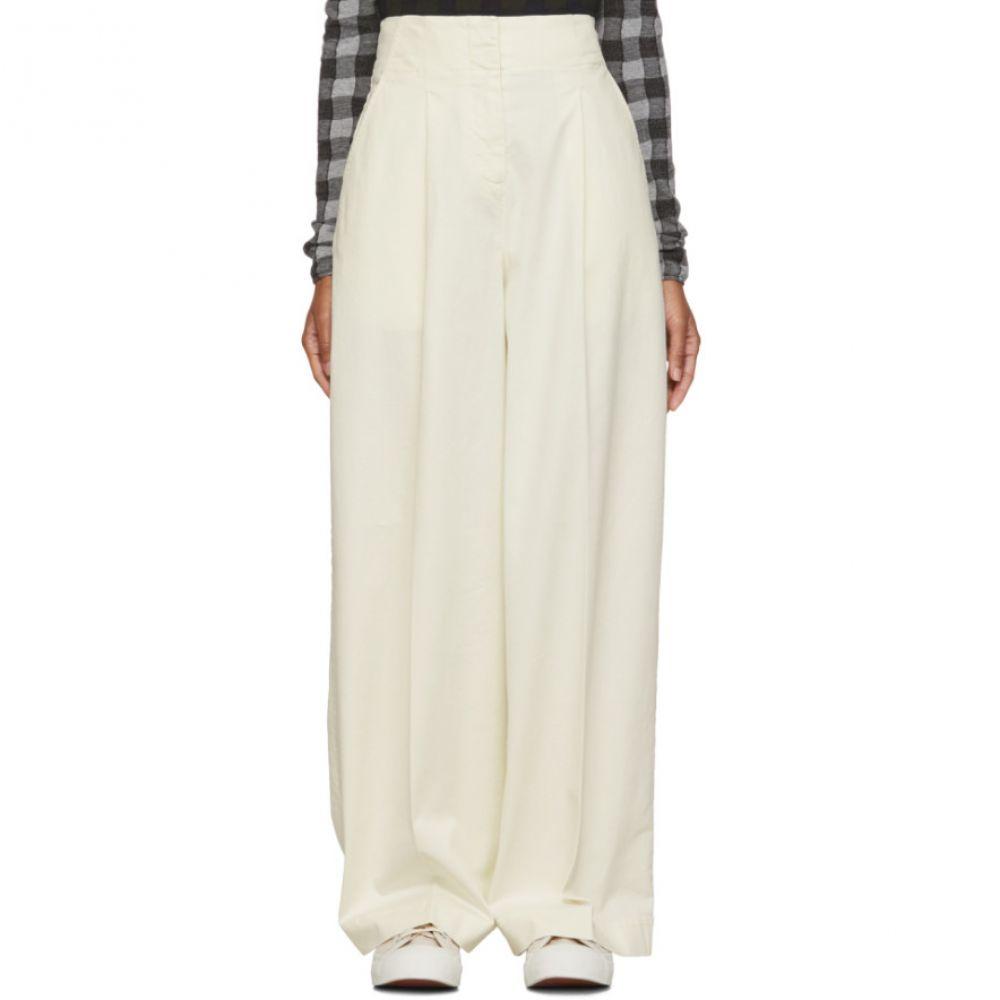 ワイエムシー YMC レディース ボトムス・パンツ 【Off-White Hall Trousers】Ecru
