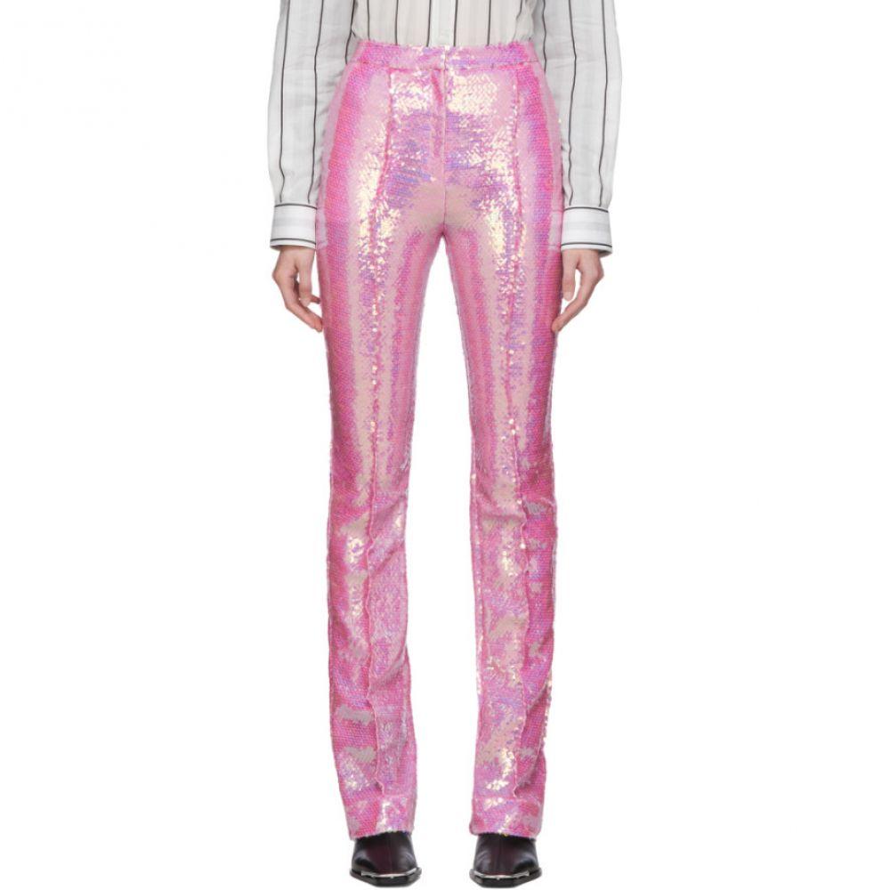 パコラバンヌ Paco Rabanne レディース ボトムス・パンツ 【Pink Sequin Trousers】Pink