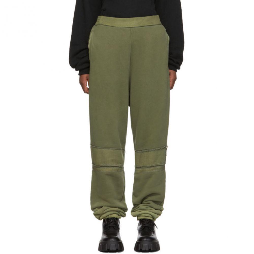 アンブッシュ Ambush レディース スウェット・ジャージ ボトムス・パンツ【Green Bleach Patchwork Lounge Pants】Olive