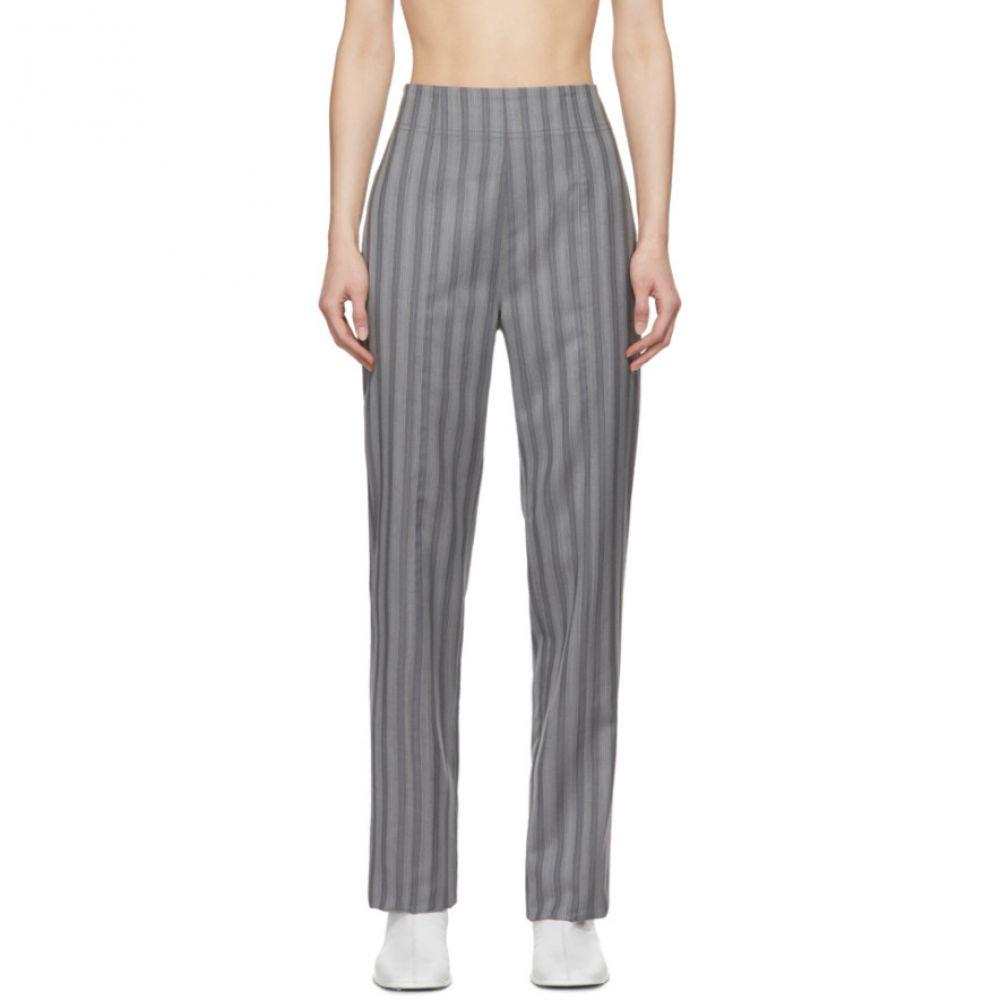 アクネ ストゥディオズ Acne Studios レディース ボトムス・パンツ 【Grey Wool Pinstripe Pattie Trousers】Grey