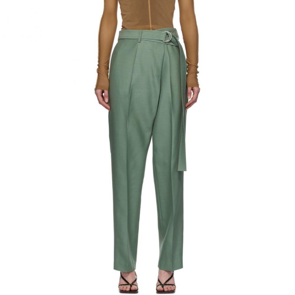 ヘルムート ラング Helmut Lang レディース ボトムス・パンツ 【Green Silk Wrap Trousers】Jade