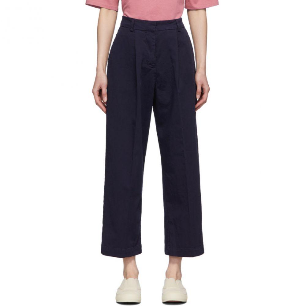 ワイエムシー YMC レディース ボトムス・パンツ 【Navy Market Trousers】Navy