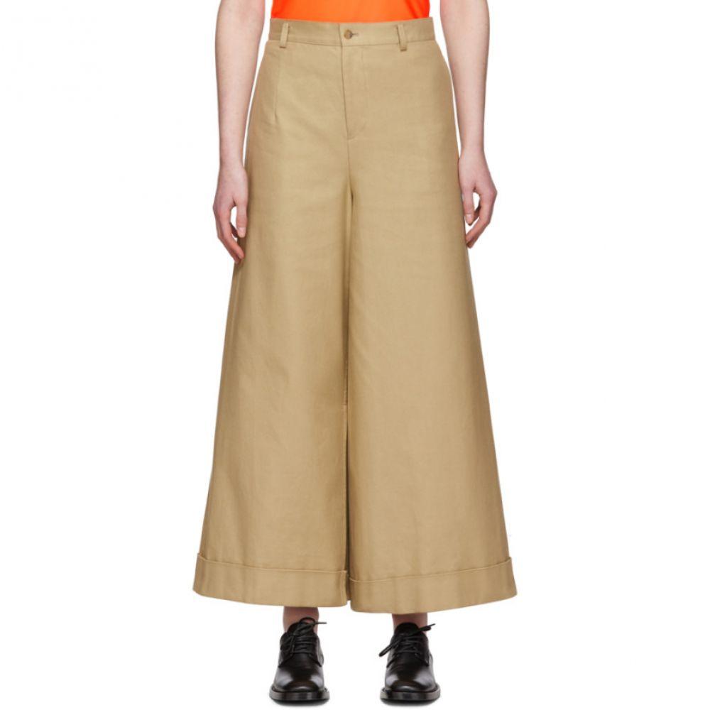 ジュンヤ ワタナベ Junya Watanabe レディース ボトムス・パンツ 【Beige Asymmetric Cotton Trousers】Beige