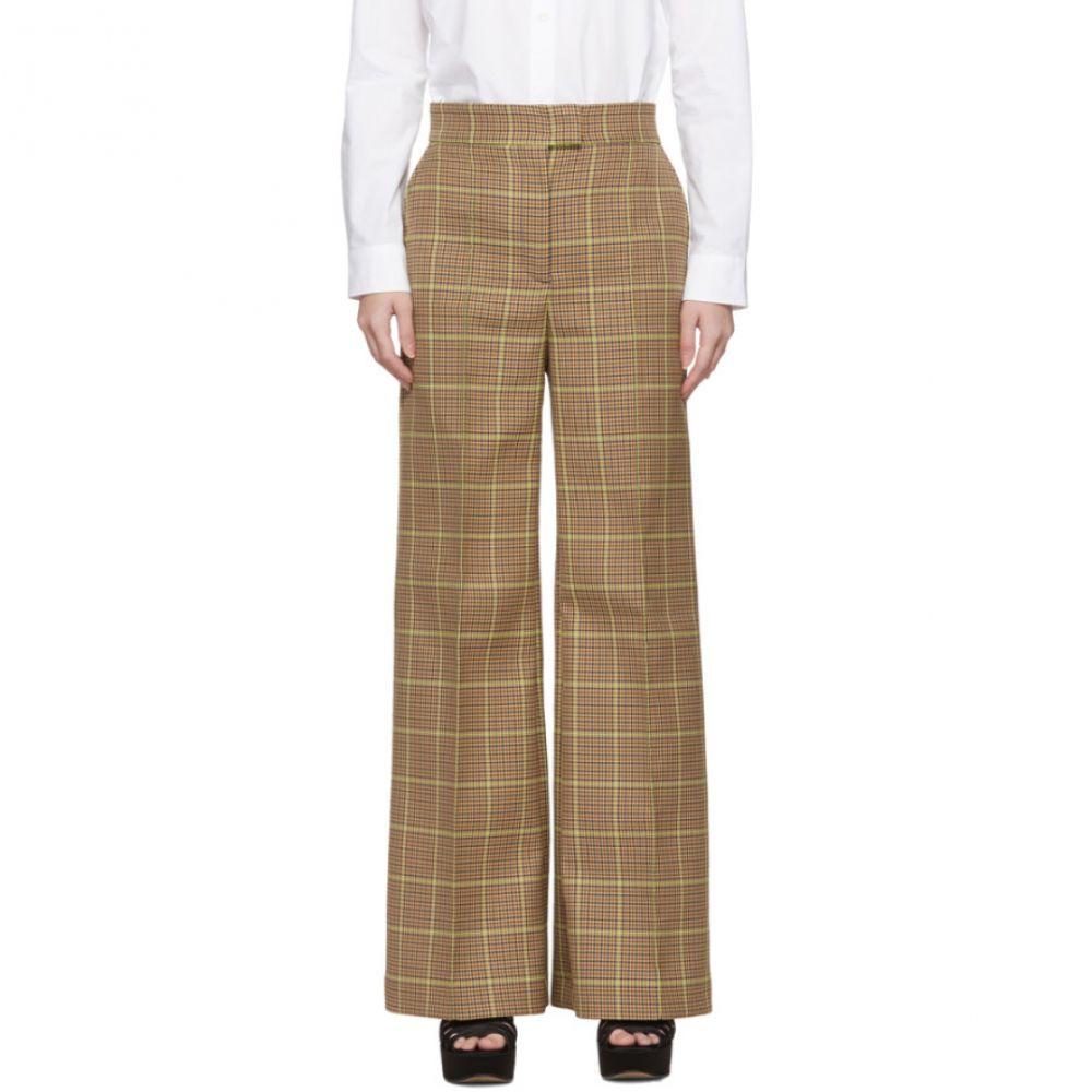 エムエスジーエム MSGM レディース ボトムス・パンツ 【Brown Check Trousers】Navy/Beige