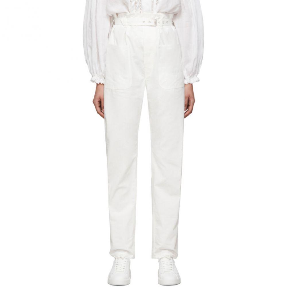 イザベル マラン Isabel Marant レディース ボトムス・パンツ 【White Kelinny Paperbag Waist Trousers】White