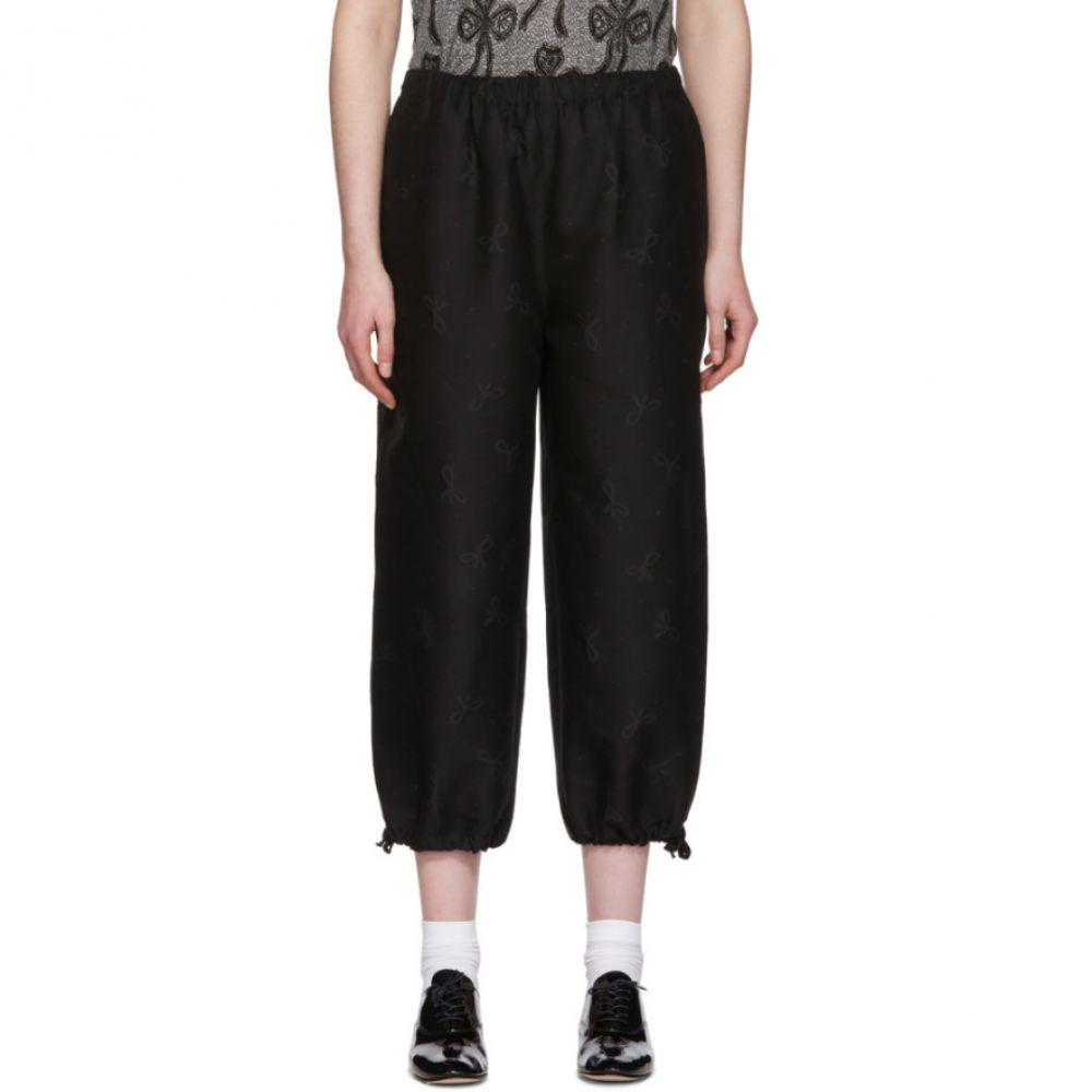 コム デ ギャルソン Tricot Comme des Garcons レディース ボトムス・パンツ 【Black Ribbon Pattern Trousers】Black