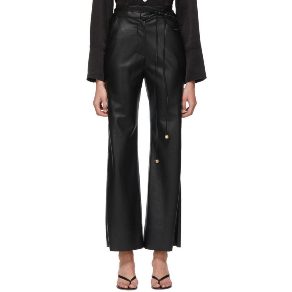 ナヌシュカ Nanushka レディース ボトムス・パンツ 【Black Vegan Leather Chimo Trousers】Black
