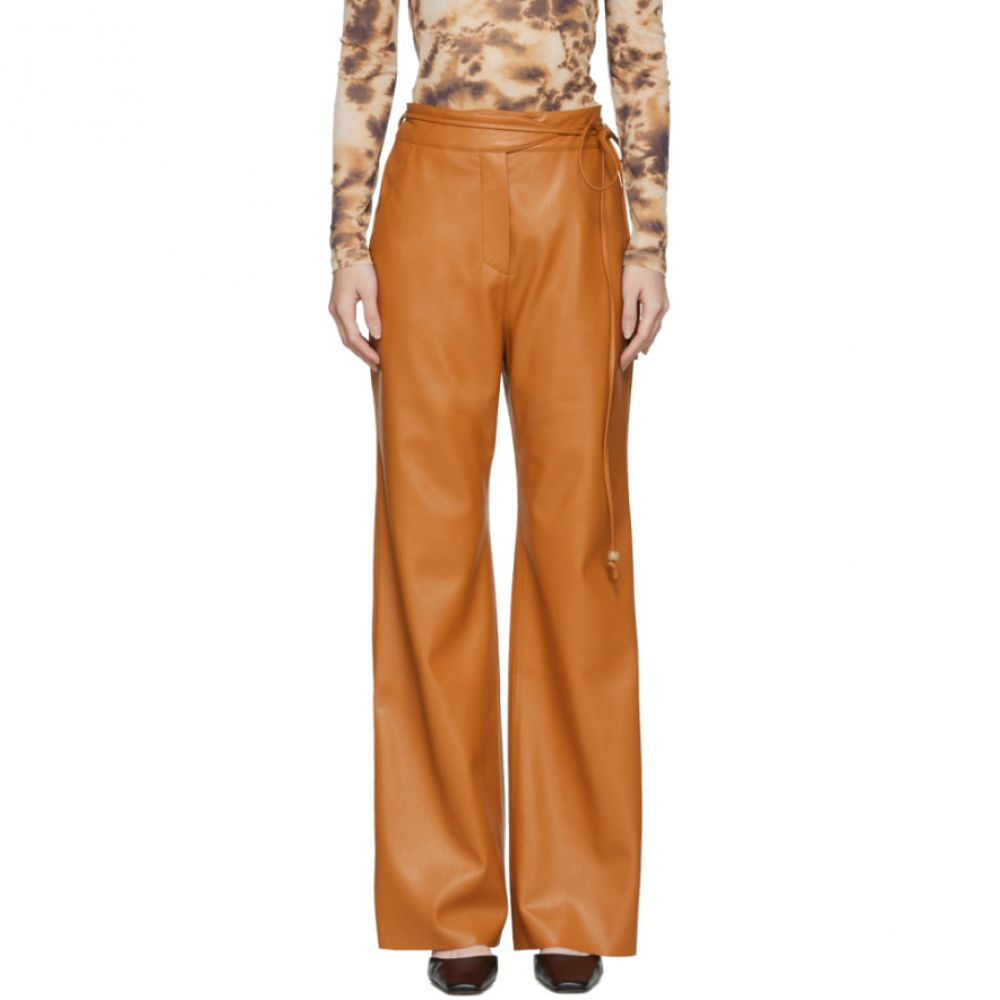 ナヌシュカ Nanushka レディース ボトムス・パンツ チノパン【Orange Vegan Leather Chino Trousers】Burnt orange