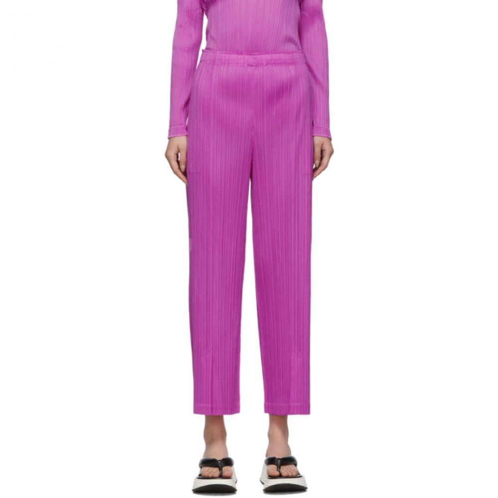 プリーツ プリーズ イッセイ ミヤケ Pleats Please Issey Miyake レディース ボトムス・パンツ 【Purple Pleats Trousers】Magenta