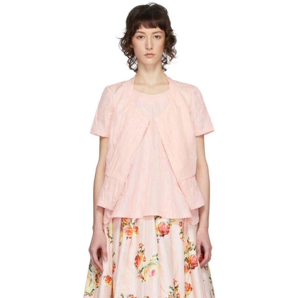 コム デ ギャルソン Comme des Garcons レディース ブラウス・シャツ トップス【Pink Embossed Flower Blouse】Pink