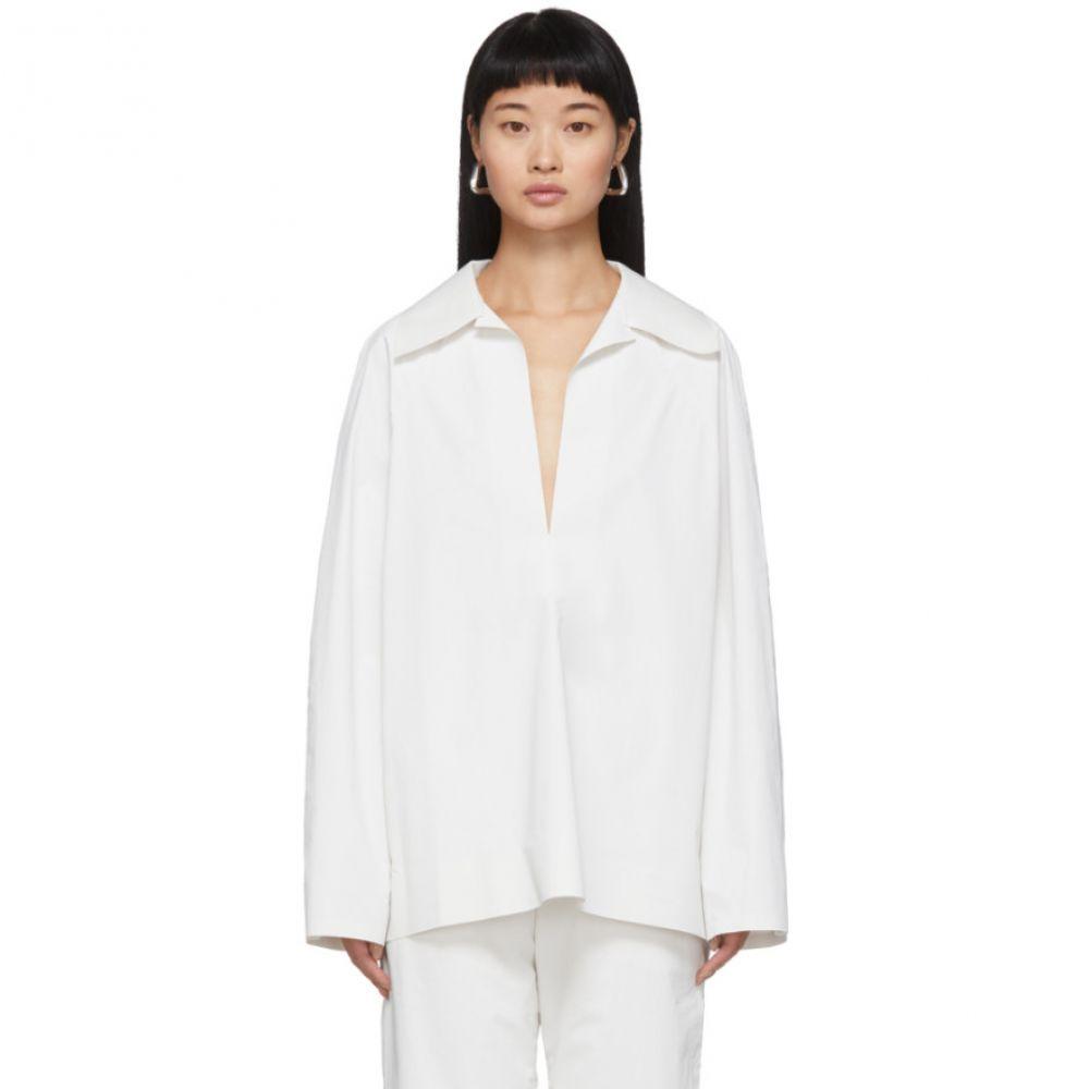 カッスル エディションズ Kassl Editions レディース ブラウス・シャツ トップス【SSENSE Exclusive White Pop Oil Shirt】White