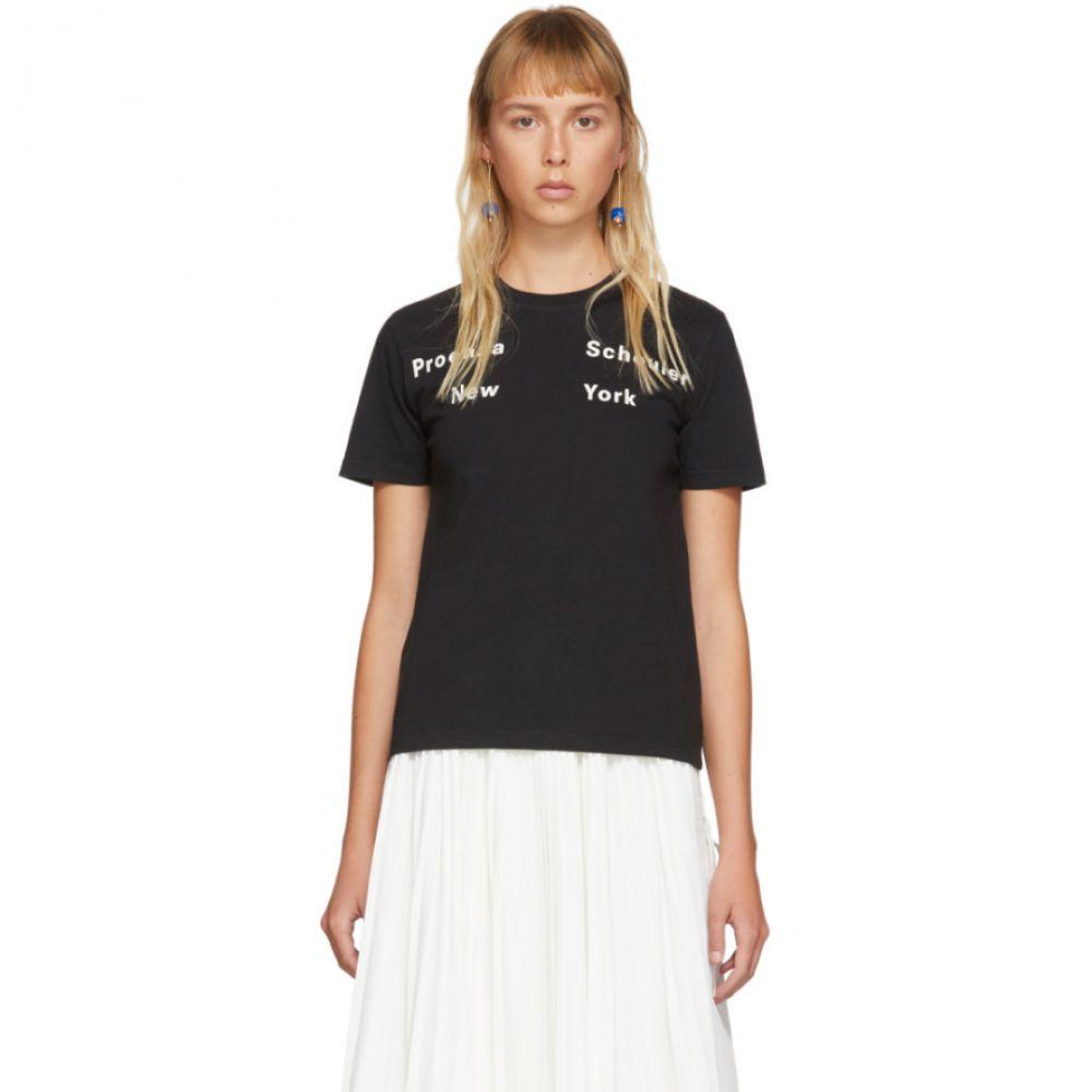 プロエンザ スクーラー Proenza Schouler レディース Tシャツ トップス【Black 'New York' T-Shirt】Black