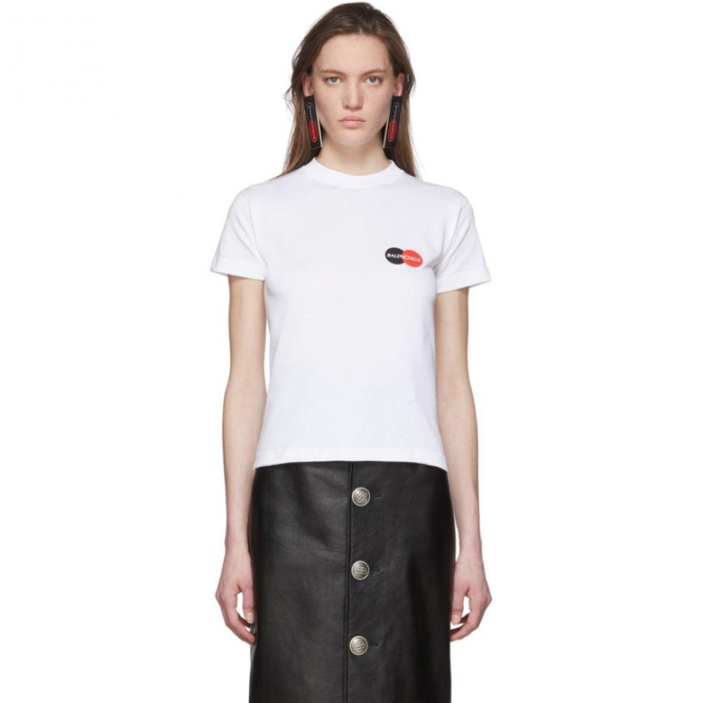 バレンシアガ Balenciaga レディース Tシャツ トップス【White Uniform Logo T-Shirt】White