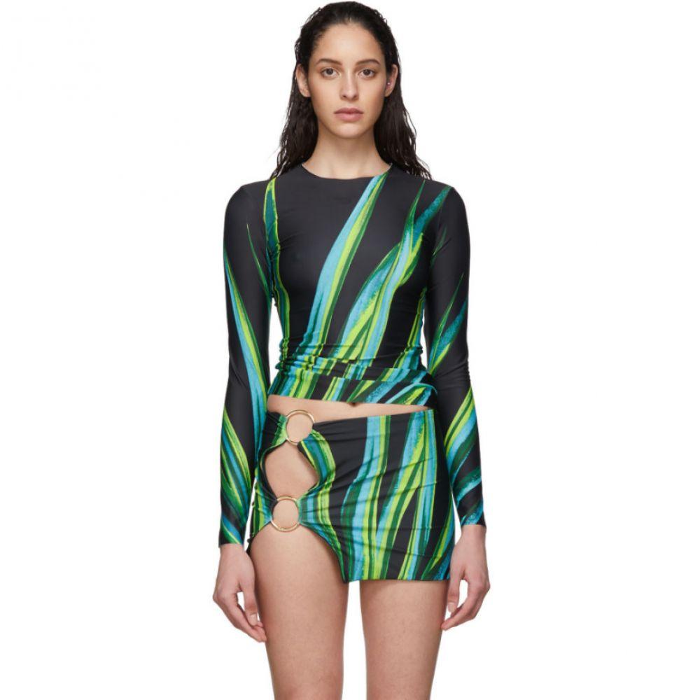 ルイーザ バルー Louisa Ballou レディース トップのみ 水着・ビーチウェア【SSENSE Exclusive Black Surf Long Sleeve Bikini Top】Black snake