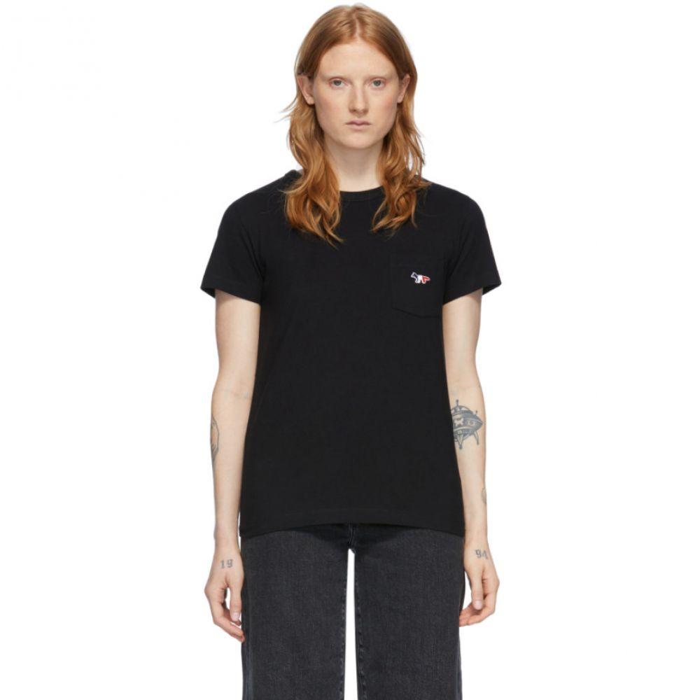 メゾン キツネ Maison Kitsune レディース Tシャツ ポケット トップス【Black Pocket T-Shirt】Black