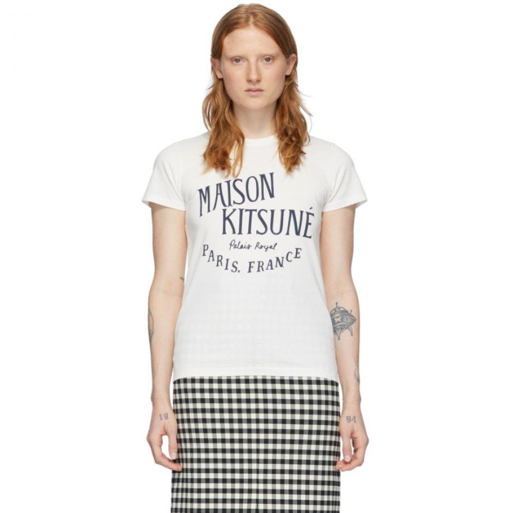メゾン キツネ Maison Kitsune レディース Tシャツ トップス【Off-White 'Palais Royal' T-Shirt】Latte
