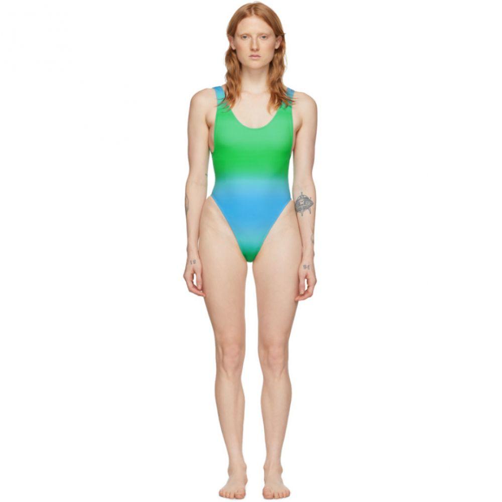 ジャックムス Jacquemus レディース ワンピース 水着・ビーチウェア【Blue & Green 'Le Maillot Camerio' One-Piece Swimsuit】Faded blue