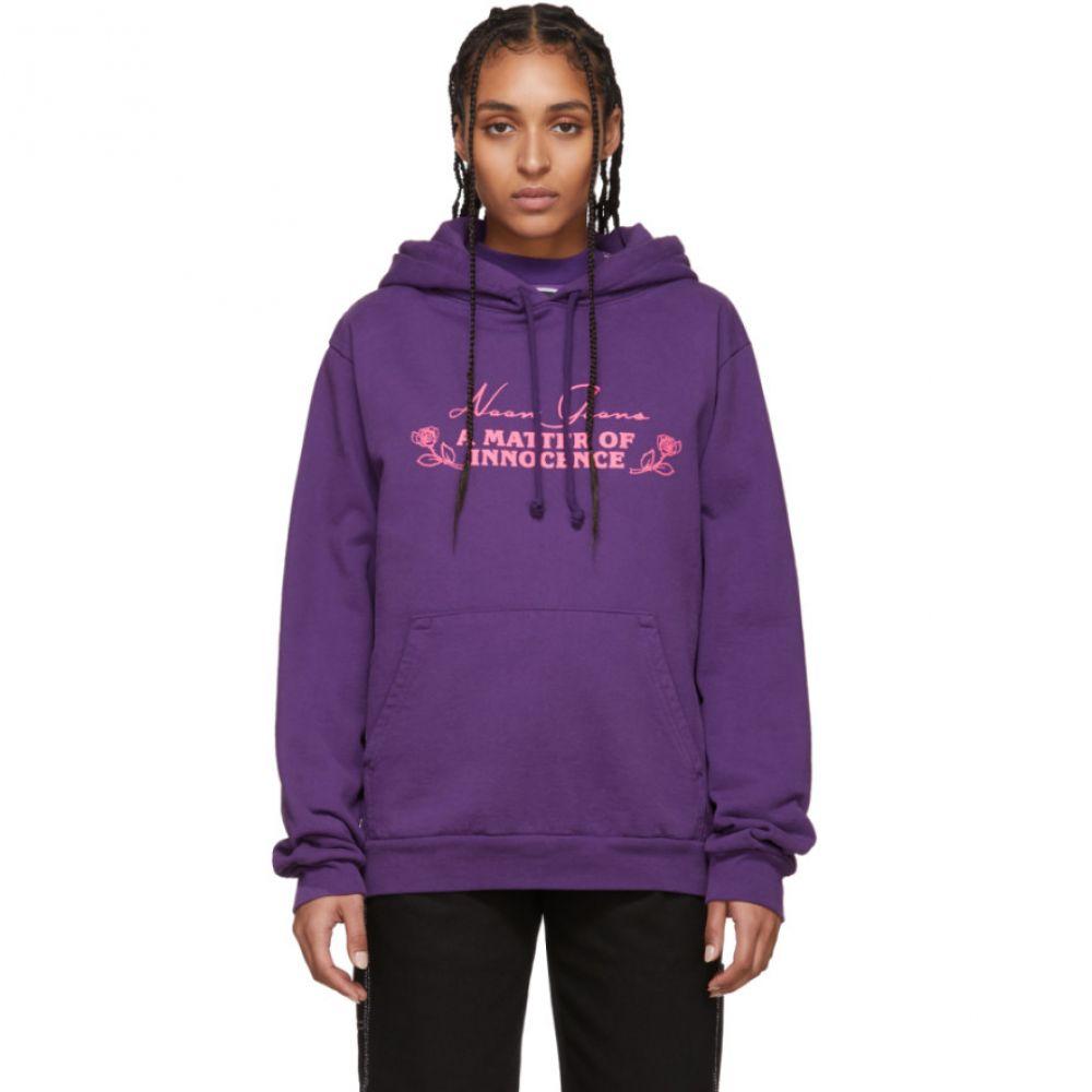 ヌーン グーンズ Noon Goons レディース パーカー トップス【Purple 'Innocence' Hoodie】Purple