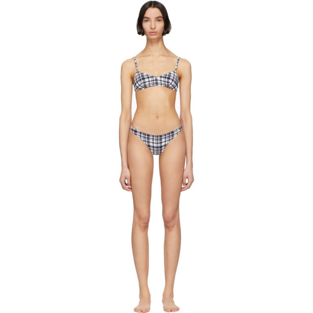 ソリッド&ストライプ Solid & Striped レディース 上下セット 水着・ビーチウェア【Navy & White Puckered Madras 'The Rachel' Bikini】Navy