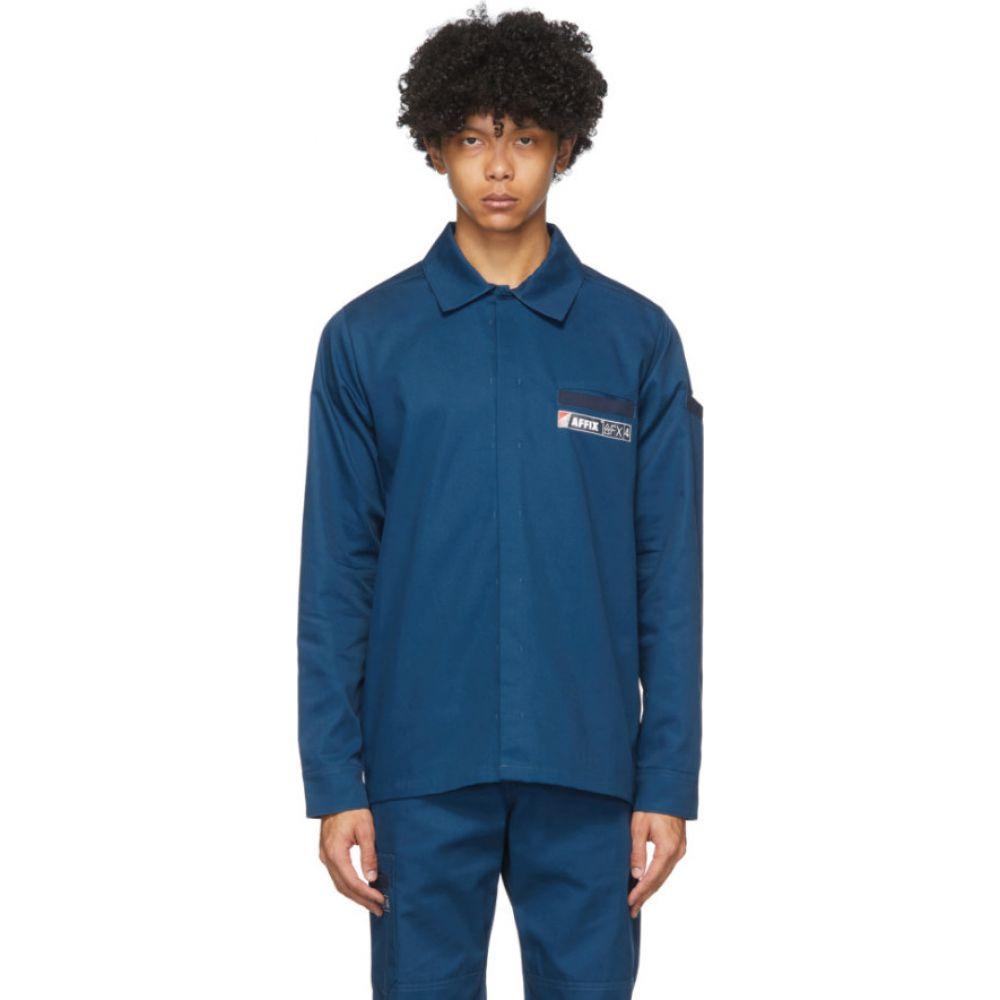 アフィクス Affix メンズ シャツ トップス【Navy Beach Shirt】Navy