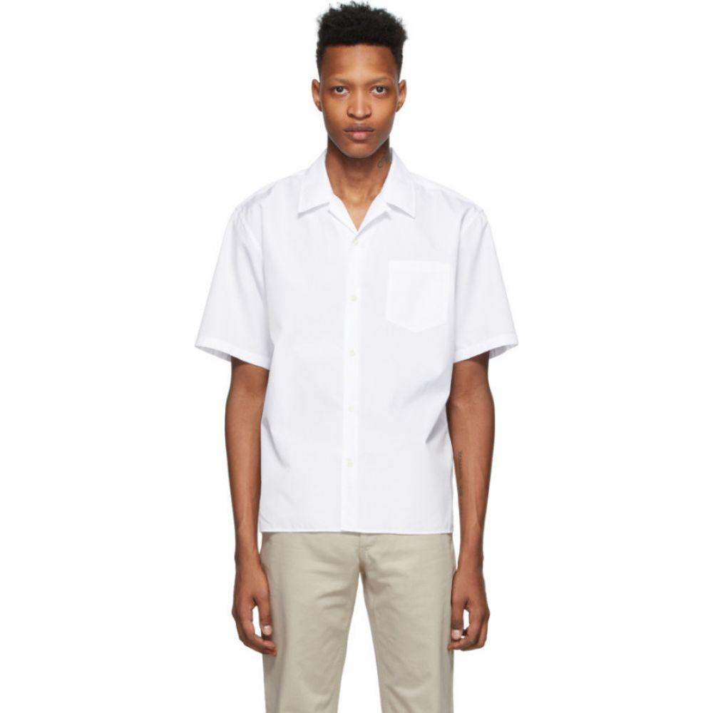 ノースプロジェクト Norse Projects メンズ 半袖シャツ トップス【White Carsten Short Sleeve Shirt】White
