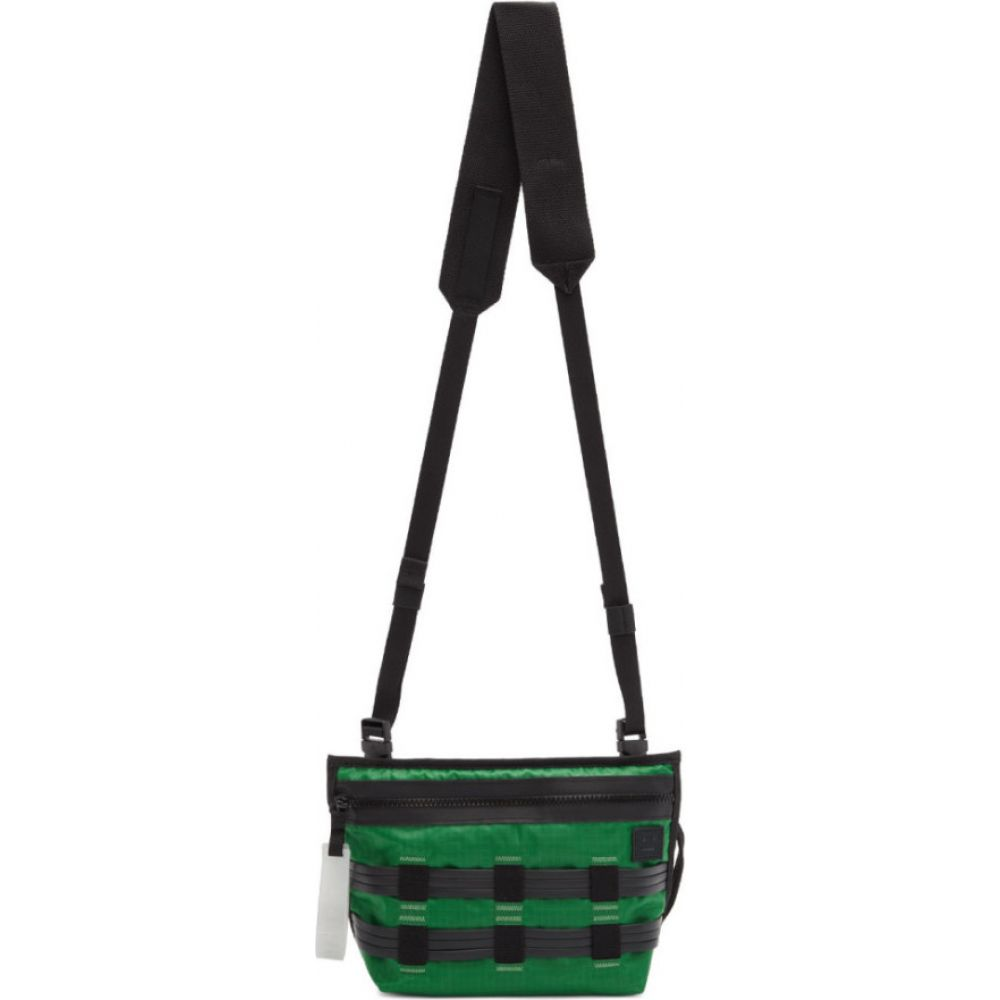 アクネ ストゥディオズ Acne Studios メンズ メッセンジャーバッグ バッグ【Green & Black Ripstop Messenger Bag】Green/Black