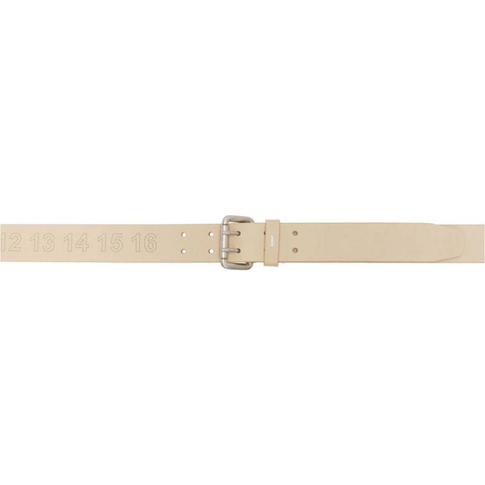 メゾン マルジェラ Maison Margiela メンズ ベルト 【Beige Perforated Logo Belt】Sierra