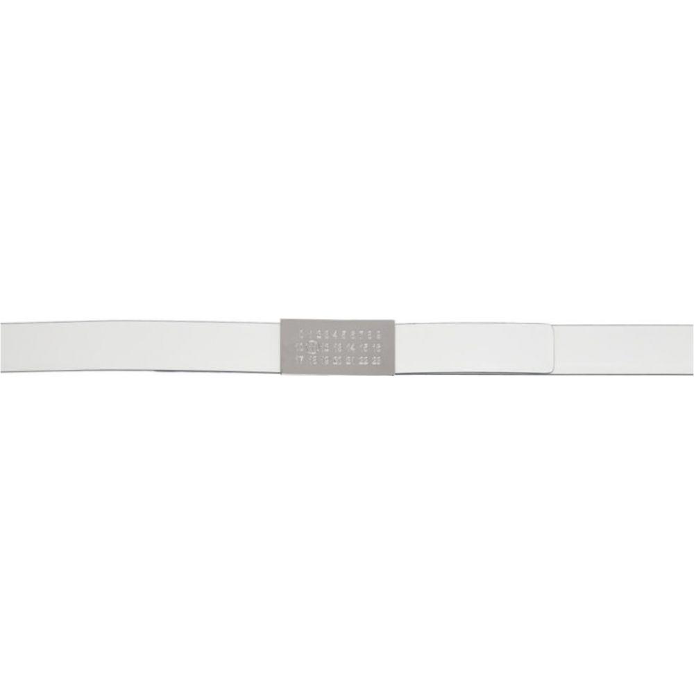 メゾン マルジェラ Maison Margiela メンズ ベルト 【Reversible White Logo Belt】White