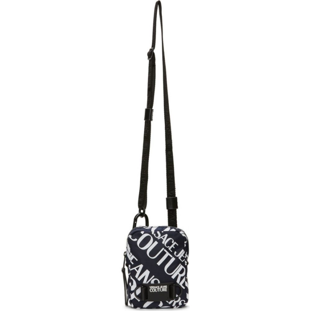 ヴェルサーチ Versace Jeans Couture メンズ メッセンジャーバッグ バッグ【Navy Allover Logo Crossbody Bag】Navy