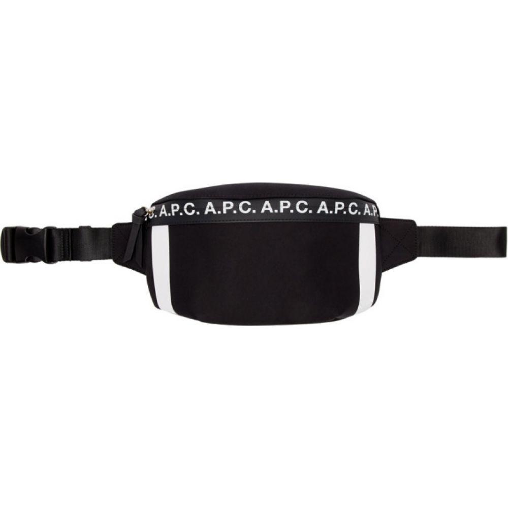 アーペーセー A.P.C. メンズ ボディバッグ・ウエストポーチ バッグ【Black Savile Bum Bag】Dark navy