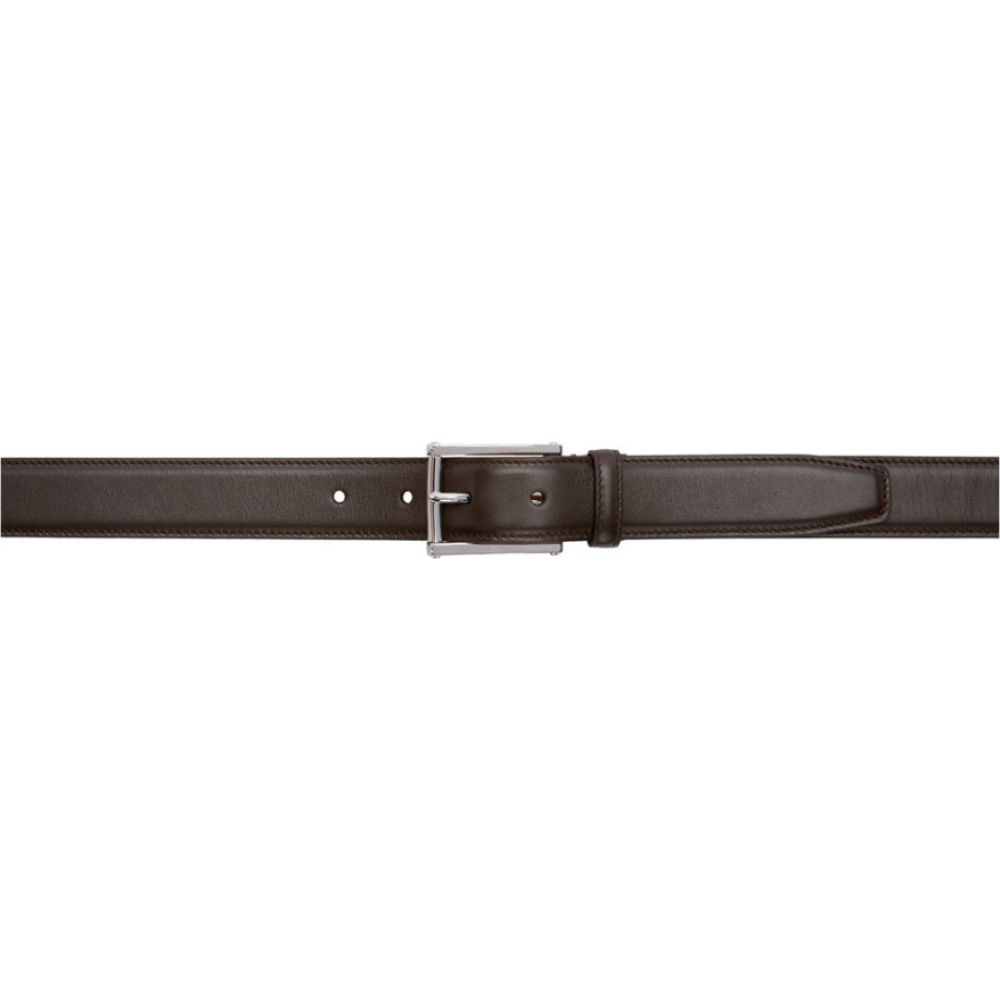 ラルフ ローレン Ralph Lauren Purple Label メンズ ベルト 【Brown Leather Belt】Dark brown