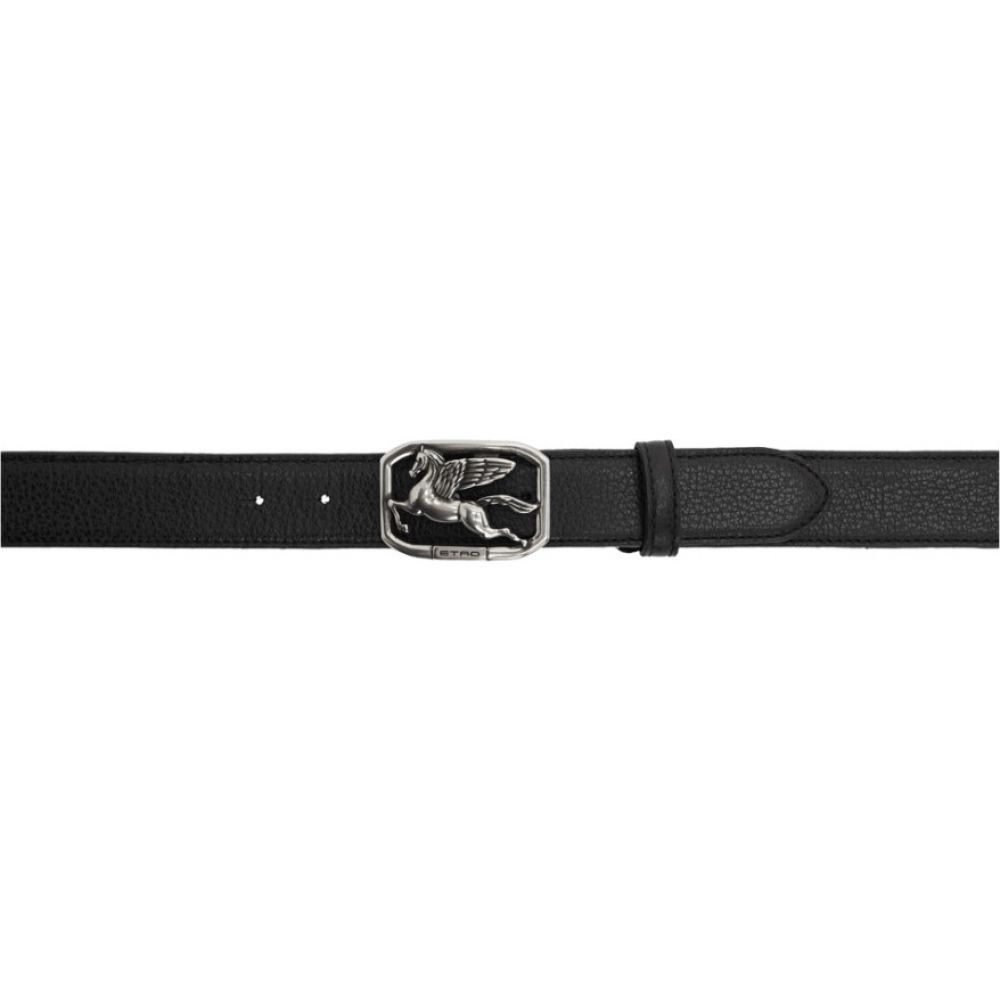 エトロ Etro メンズ ベルト 【Black Pegasus Belt】Black