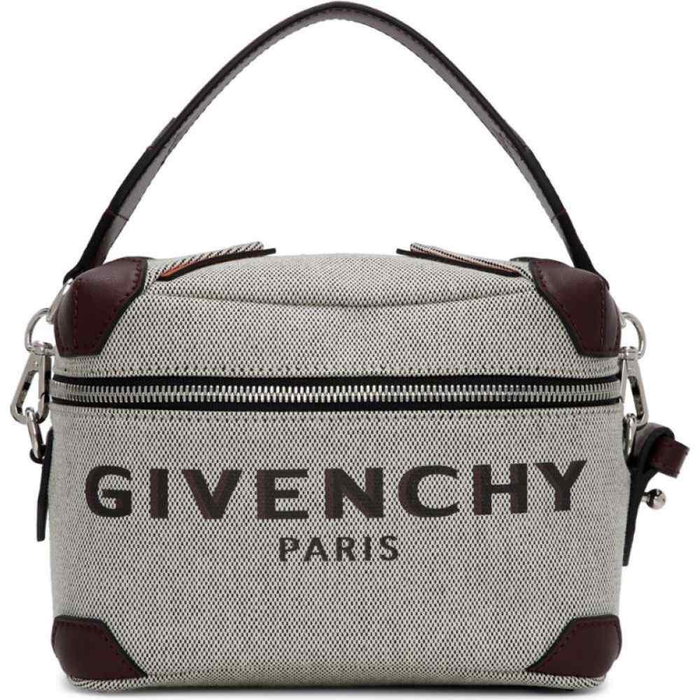 ジバンシー Givenchy メンズ メッセンジャーバッグ バッグ【Grey & Burgundy Coffer Box Messenger Bag】Grey/Burgundy