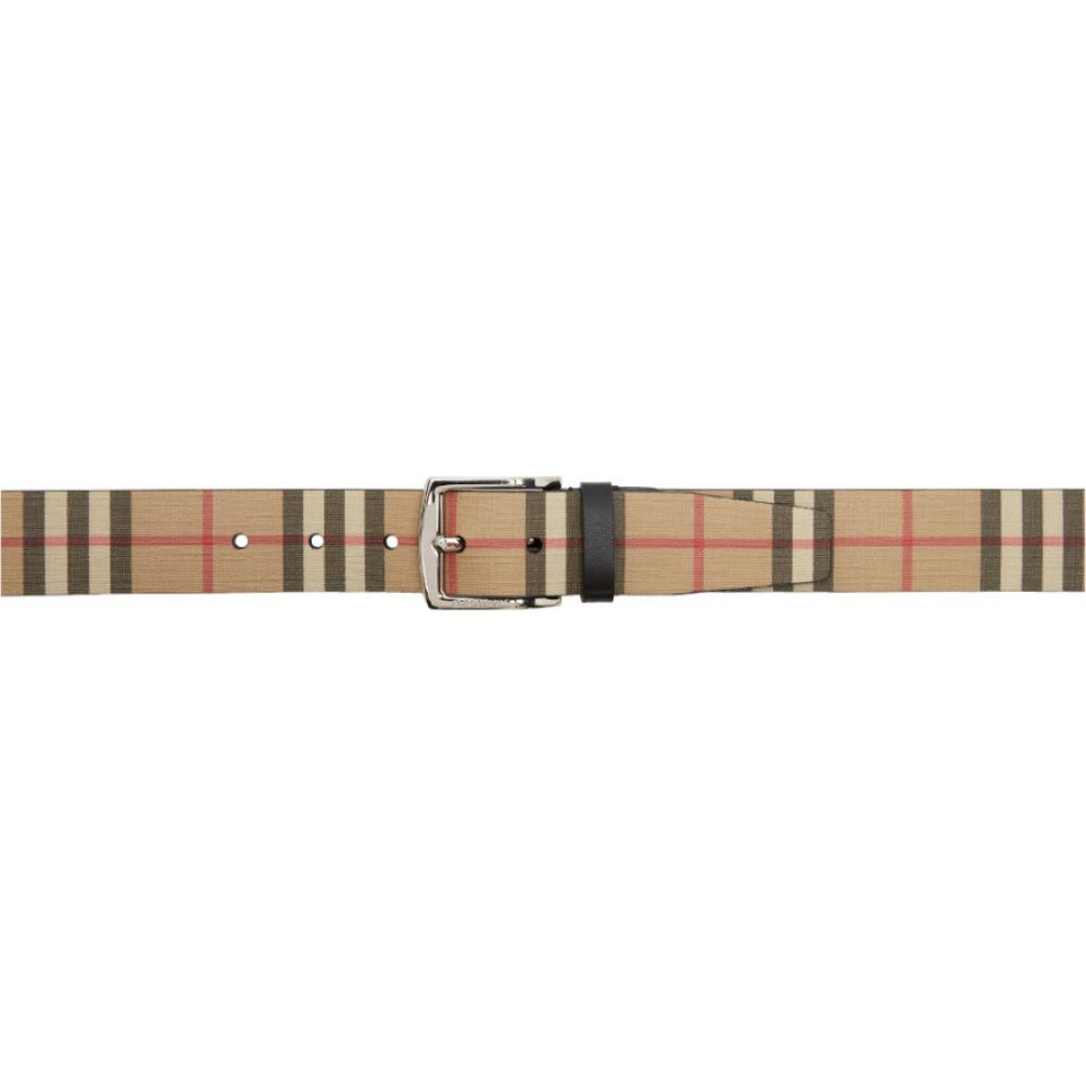 バーバリー Burberry メンズ ベルト 【Beige E-Canvas Vintage Check Belt】Archive beige