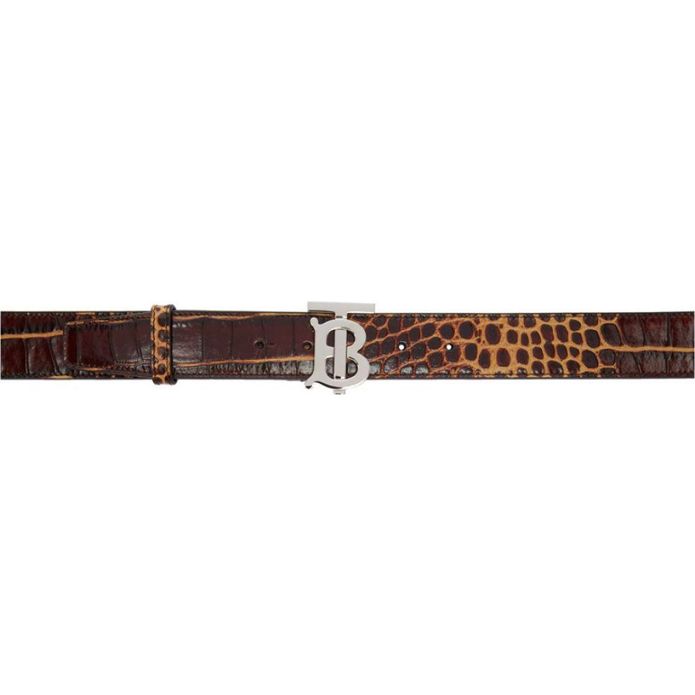 バーバリー Burberry メンズ ベルト 【Brown Croc TB Belt】Brown