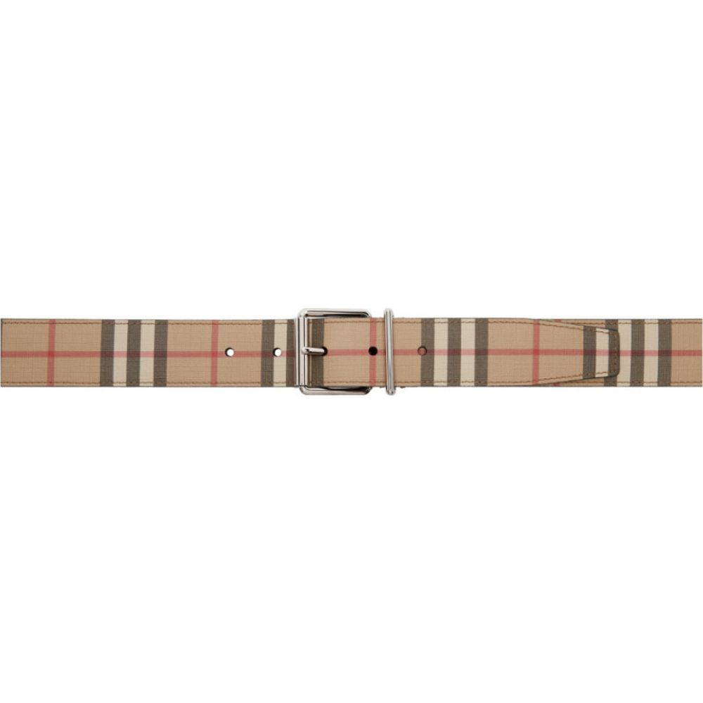 バーバリー Burberry メンズ ベルト 【Beige E-Canvas Mack Belt】Archive beige