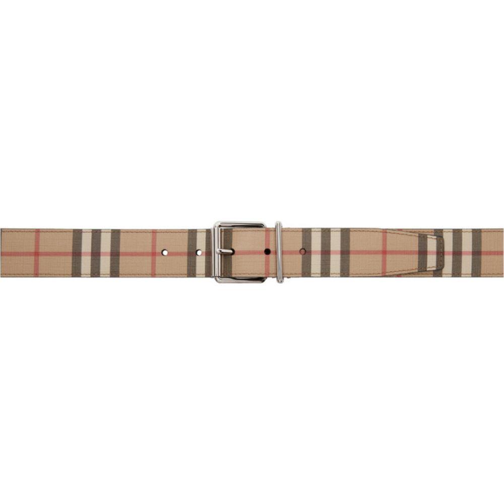 バーバリー Burberry メンズ ベルト 【Beige E-Canvas Mack Belt】Archive beige