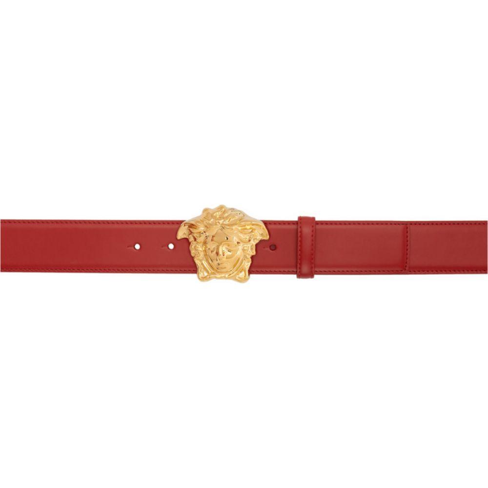 ヴェルサーチ Versace メンズ ベルト メデューサ【Red Medusa Belt】Red