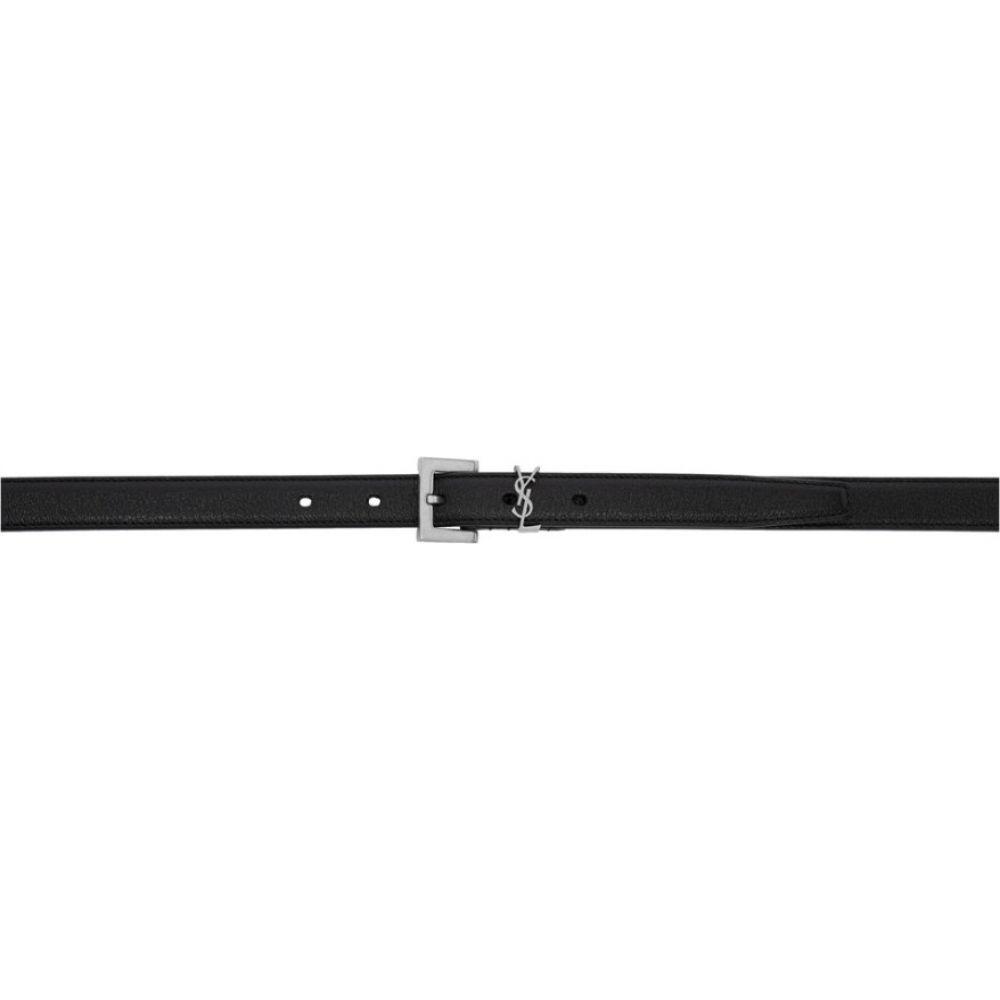 イヴ サンローラン Saint Laurent メンズ ベルト 【Black Monogramme Belt】Black