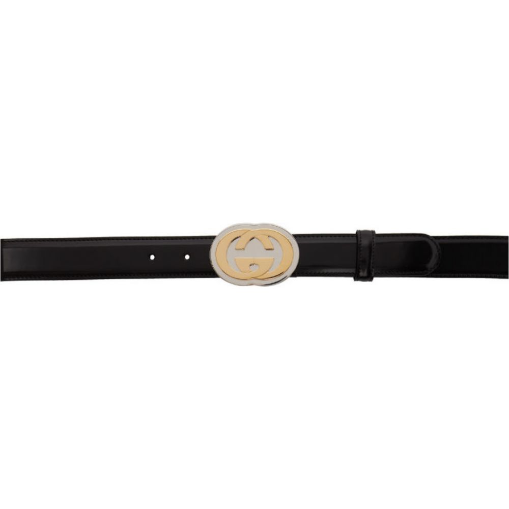 グッチ Gucci メンズ ベルト 【Black Interlocking G Belt】Black