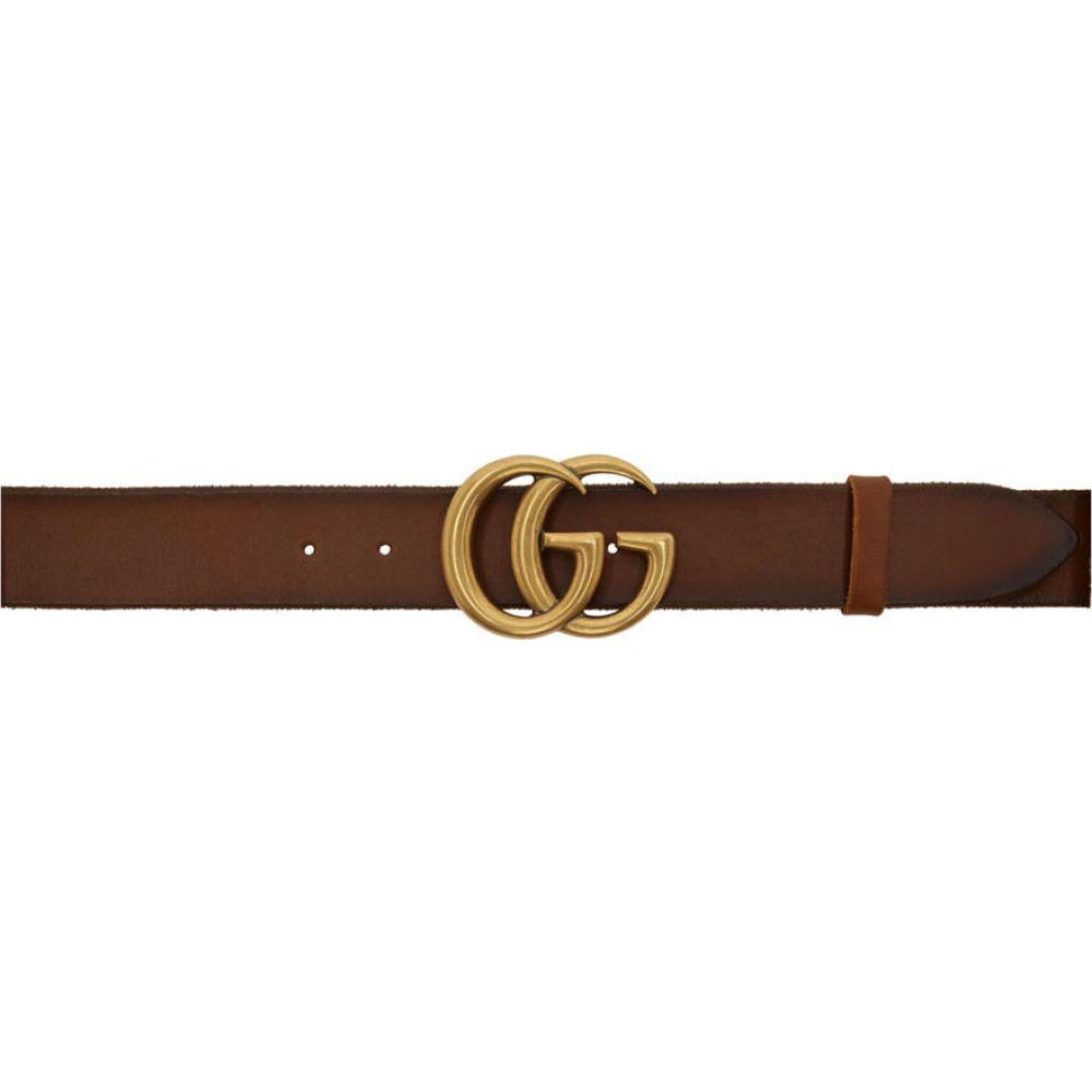 グッチ Gucci メンズ ベルト 【Brown Leather GG Belt】Brown