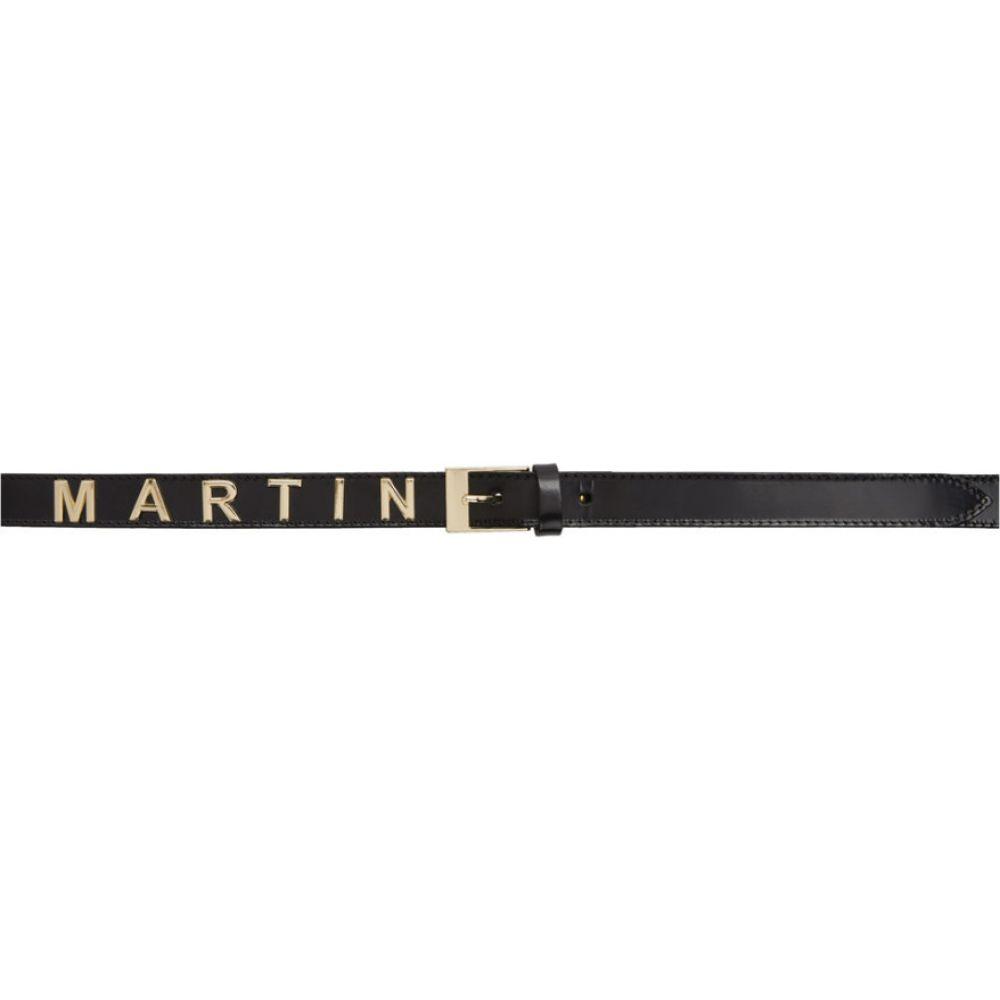 マーティン ローズ Martine Rose メンズ ベルト 【Black Leather Logo Belt】Black