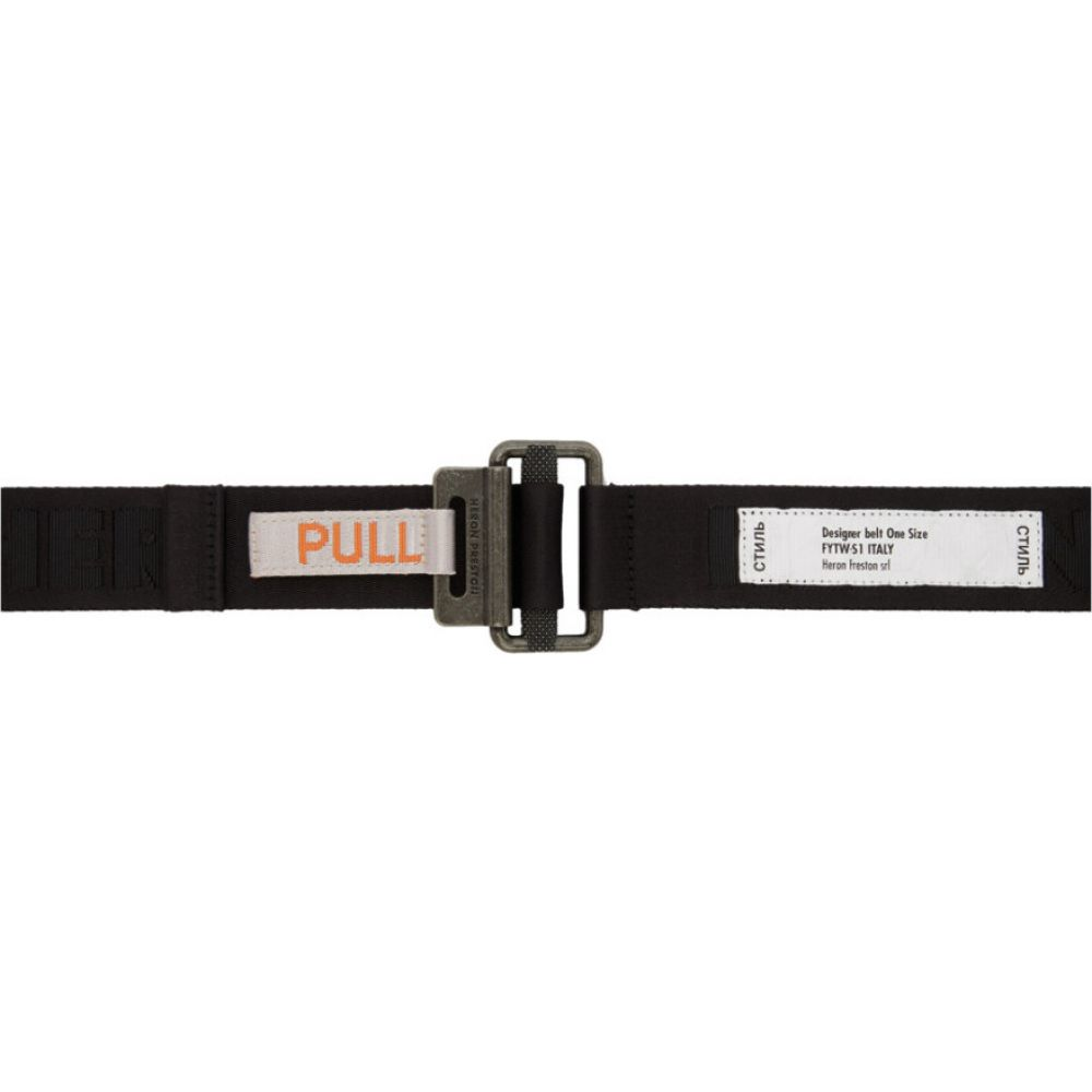 ヘロン プレストン Heron Preston メンズ ベルト 【Black KK Tape Belt】Black/Medium grey