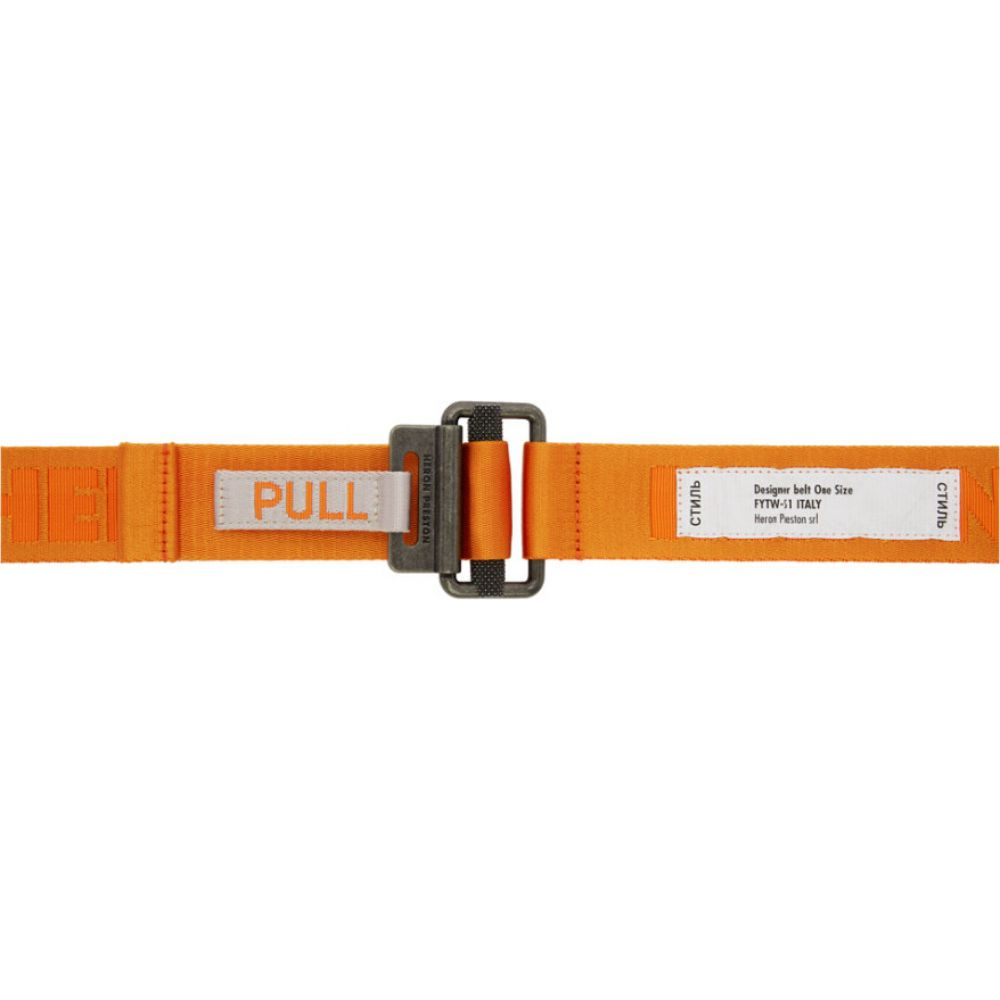 ヘロン プレストン Heron Preston メンズ ベルト 【Orange KK Tape Belt】Orange/Medium grey