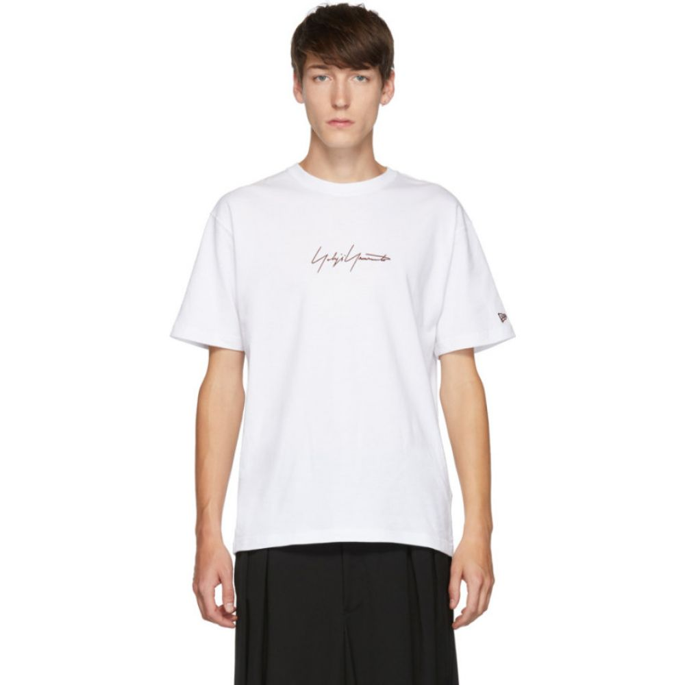 ヨウジヤマモト Yohji Yamamoto メンズ Tシャツ トップス【White New Era Edition Short Sleeve T-Shirt】White