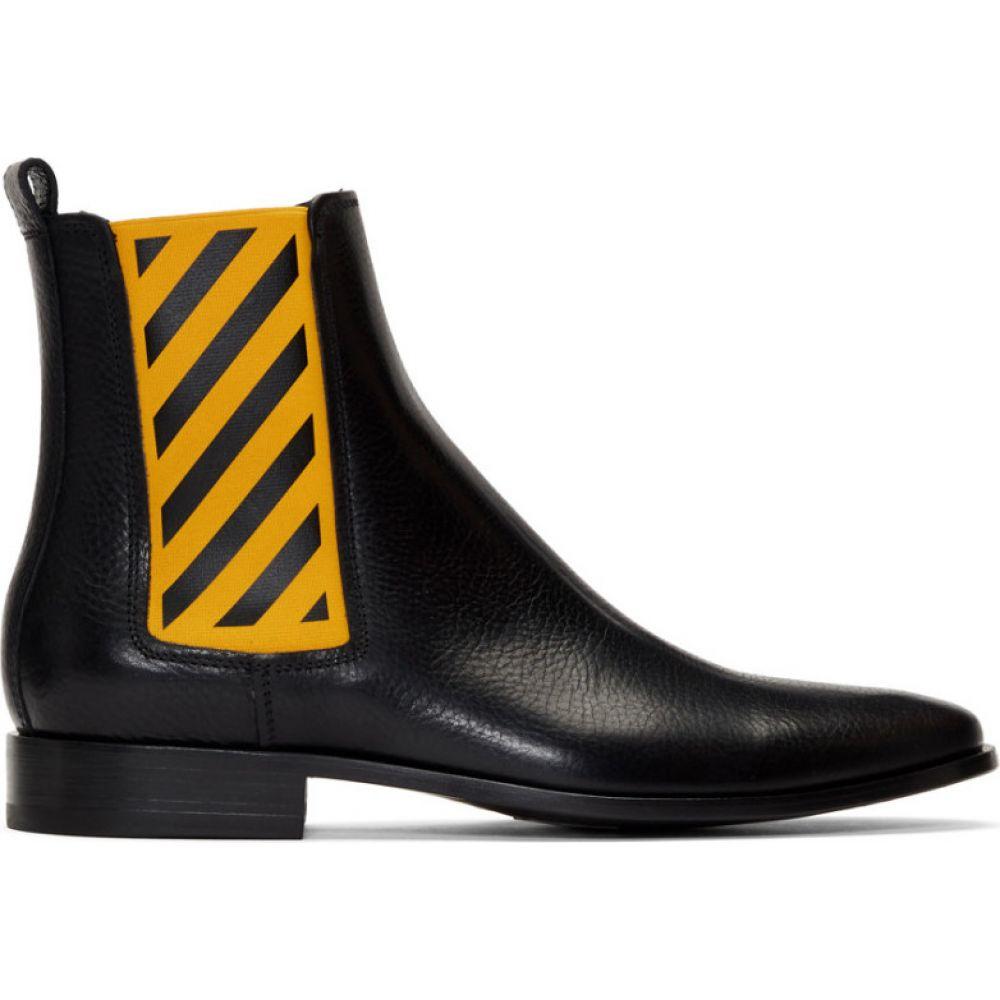 オフホワイト Off-White メンズ ブーツ チェルシーブーツ シューズ・靴【Black & Yellow Chelsea Boots】Black/Yellow
