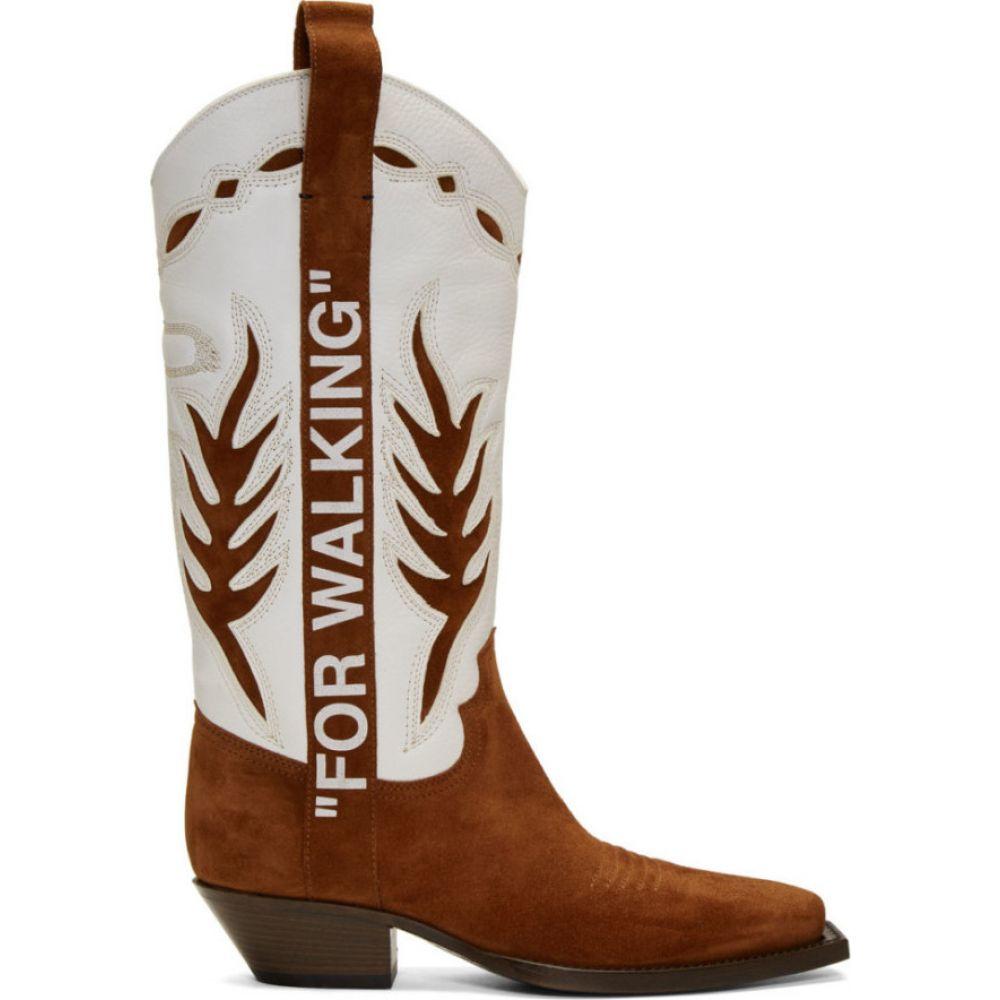 オフホワイト Off-White メンズ ブーツ カウボーイブーツ シューズ・靴【Brown & White Cowboy Boots】Brown/White
